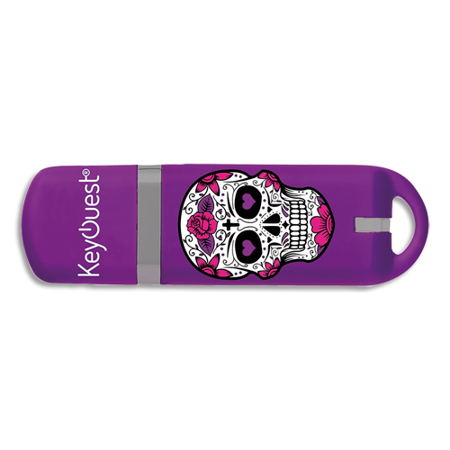 Code 388827, Désignation: SRDI KEYOUEST Clé USB 2.0 Girly Skull KO016275 + redevance